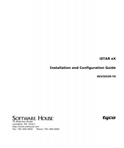 istar ex installation and configuration guide tyco security istar ex installation and configuration guide tyco security
