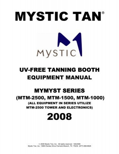 mystic tan mymyst manual