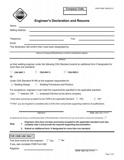resume declaration format fresher resume sample page 2 career