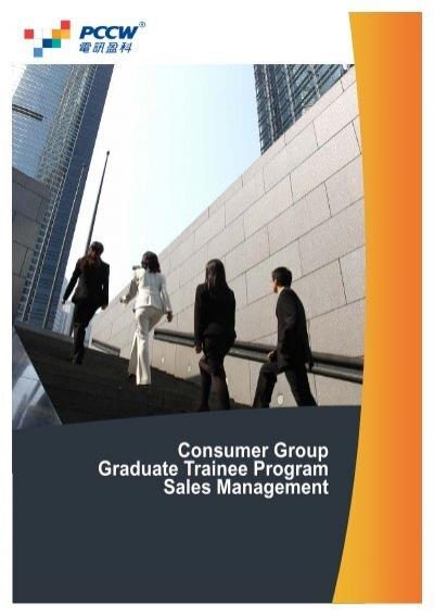 Consumer Group Graduate Trainee Program Sales