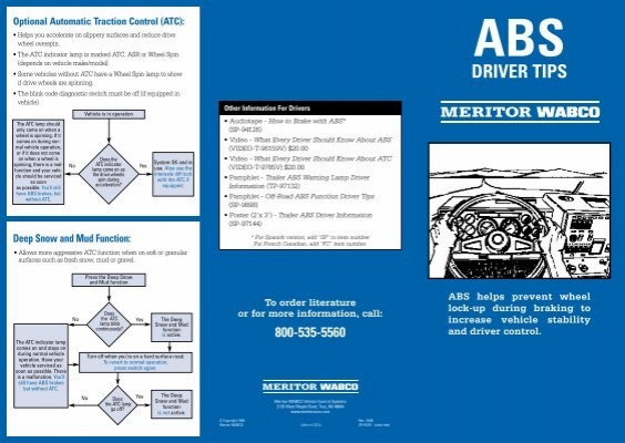Anti lock braking systems abs for trucks meritor wabco sp 93161 meritor dr tips meritor wabco sciox Choice Image