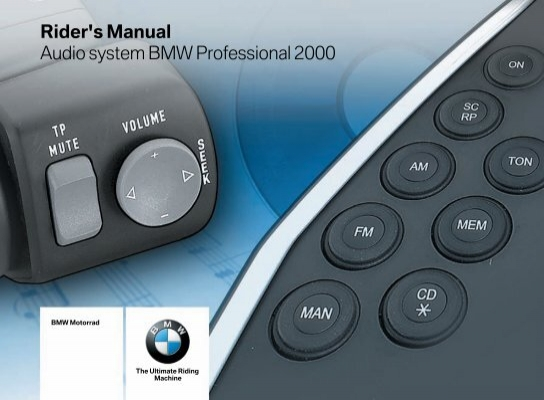 rider s manual audio system bmw professional 2000 rh yumpu com JohnF Rider Schematics TomTom Rider Manual