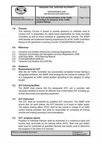 suggestions and recommendations in ojt
