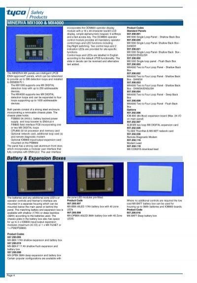 tyco mx fire panel manual