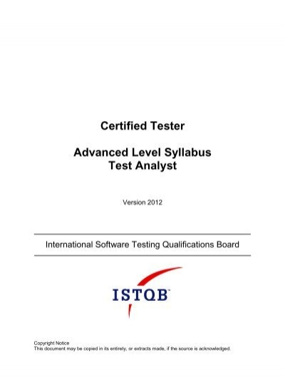 Certified Tester Expert Level Syllabus Test Management - gasq
