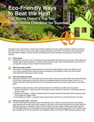 Eco Friendly Ways To Beat The Heat Home Depot