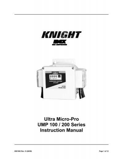 ultra micro-pro ump 100    200 series instruction manual