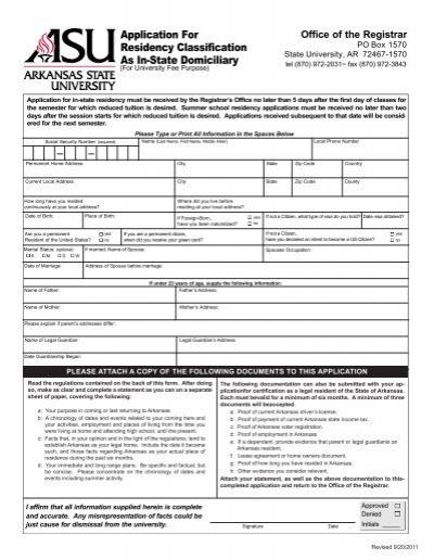 arkansas state university registrar