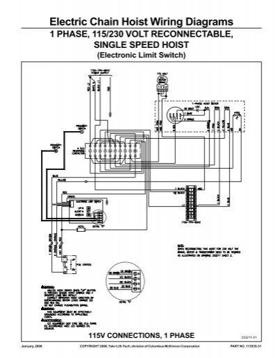 Cm Shop Star Electric Hoist Wiring Diagram - Wiring Diagram G11 Cm Shopstar Single Phase Wiring Diagram on