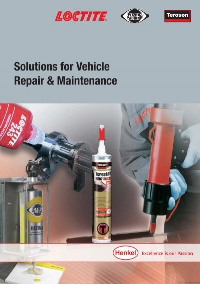 Solutions for Vehicle Repair & Maintenance - Henkel Content