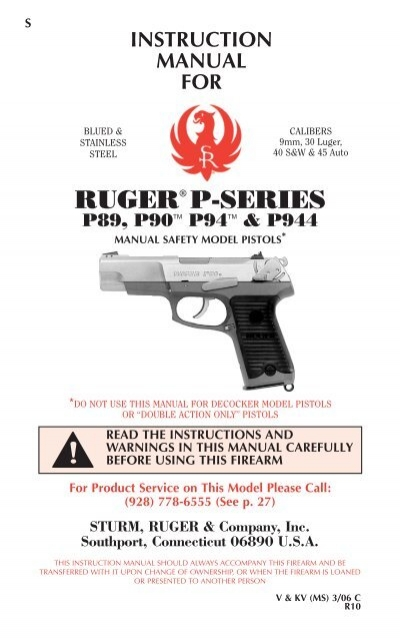 Ruger P89 P Series 9mm Ejector Pin Pivot Pin Slide Stop Spring Retainer