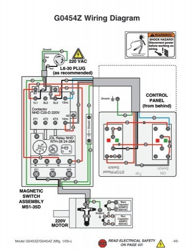 Wiring Diagram G0453z G04