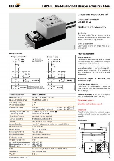selection table types of rh yumpu com LM -2 Belimo LM24 T Replacement