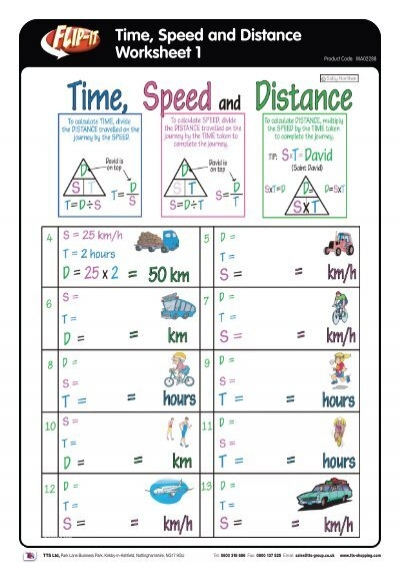 Time Speed And Distance Worksheet 1 Tts