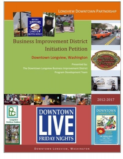 Business Improvement District Initiation Petition  City Council Agenda