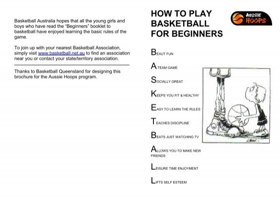 HOW TO PLAY BASKETBALL FOR BEGINNERS