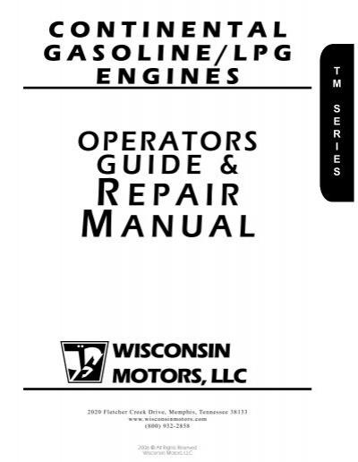 Operator Repair (TM Series) - Wisconsin Motors