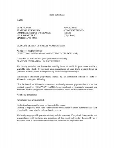 property service contract sample letter of credit wisconsin office