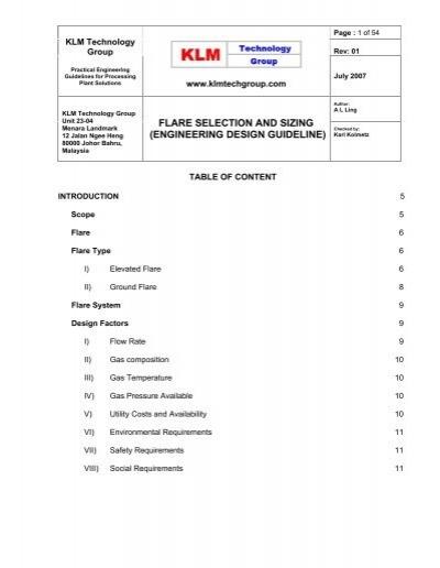Engineering Design Guideline Klm Technology Group