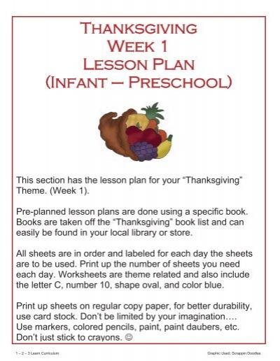 28326767 - Thanksgiving Lesson Plans For Kindergarten