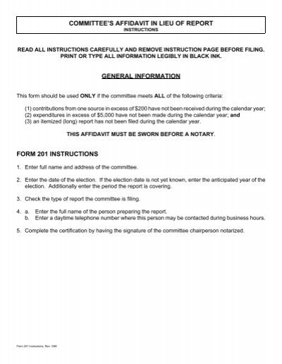 Committee Form 201