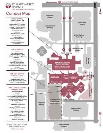 Mercy Hospital Campus Map.Campus Map