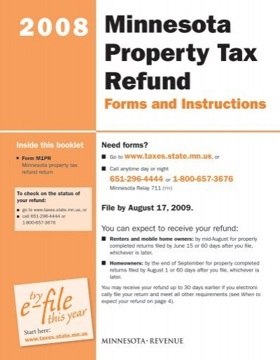 Efile express mn property tax refund.