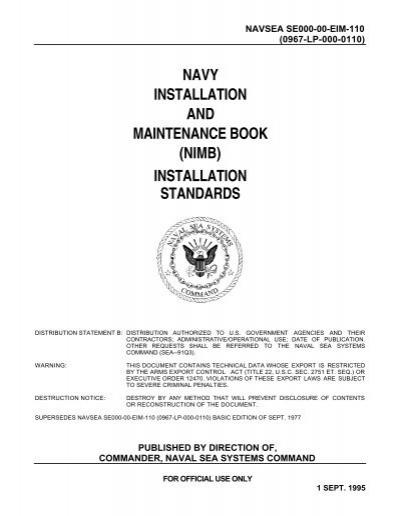 Nimb Installation Standards Se000 00 Eim 110