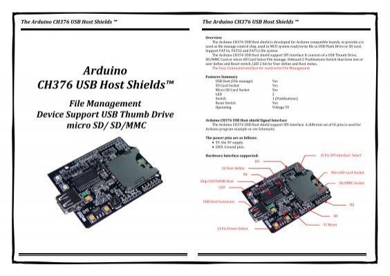 Arduino ch usb host shields™ thaieasyelec