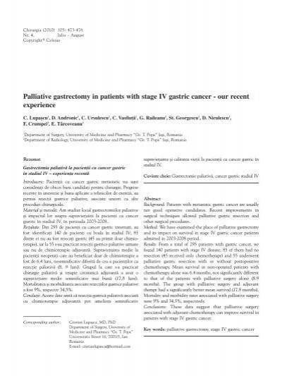 cancer gastric stadiul 2)