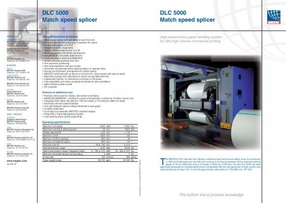 Dlc 5000 Match Speed Splicer Dlc 5000 Match Megtec