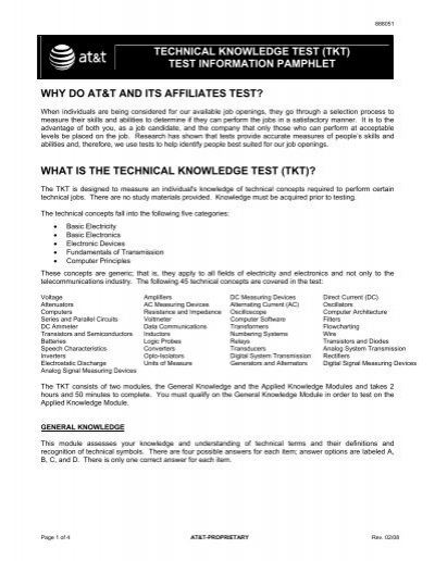 technical knowledge test tkt at t rh yumpu com Police Study Guide CDL Practice Test