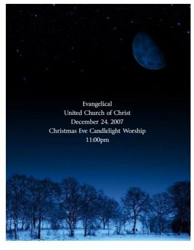 "Ucc 2021 ""Christmas Eve"" ""Order Of Worship"" Christmas Eve Late 07 2 Pub Liturgy Outside"