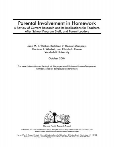 Parental involvement in homework hoover drawing business plan pdf