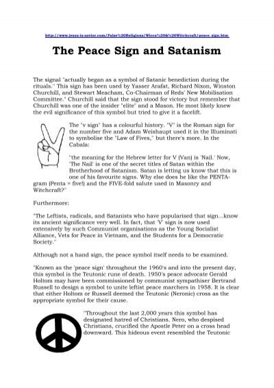 The Peace Sign And Satanism Laat My Lammers Wei