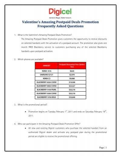 Valentine's Amazing Postpaid Deals Promotion     - Digicel