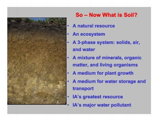 So now what is soil for Soil resources definition