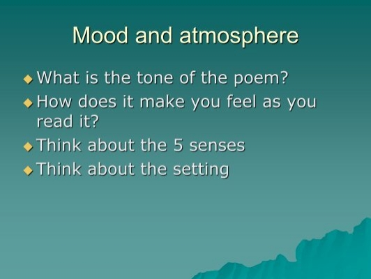 how is mood and atmosphere created