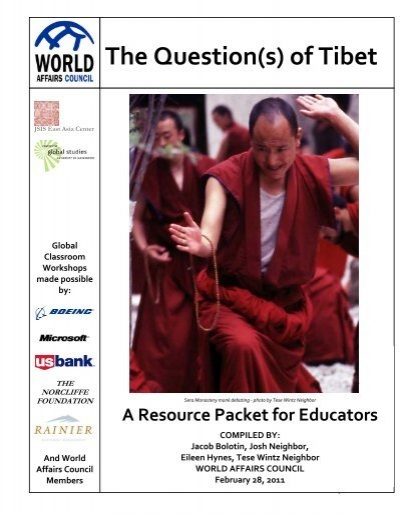 The Question S Of Tibet World Affairs Council