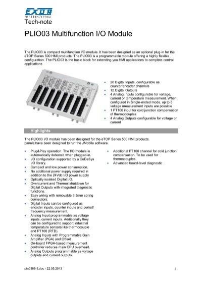 PLIO03 Multifunction I/O Module