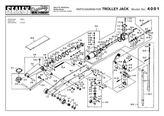 PARTS DIAGRAM FOR: TROLLEY JACK Model No: 4001   Sitebox Ltd