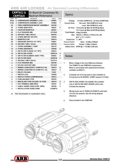 arb air locker air operated locking differentials