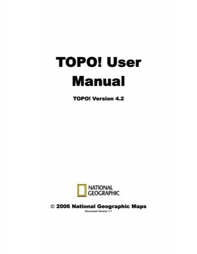 Topo user manual national geographic maps sciox Image collections