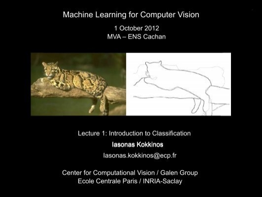 computer vision thesis About the lab the computer vision laboratory, eth zurich, works on the computer-based interpretation of 2d and 3d image data sets from conventional and non.
