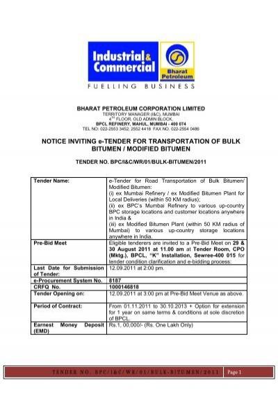 Bharat petroleum kochi tenders dating