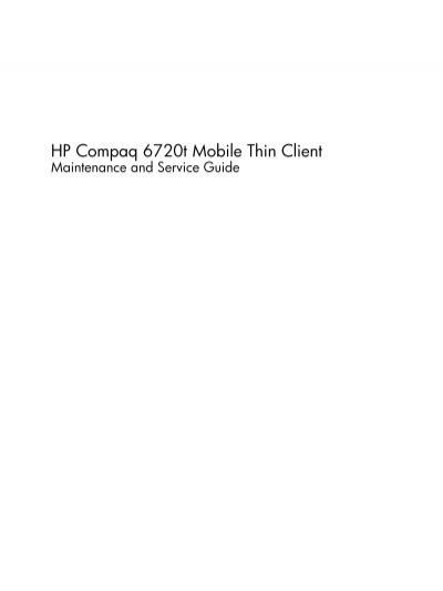 hp compaq 6720t mobile thin client tim id au rh yumpu com HP T5000 Series Thin Client HP T5000 Drivers