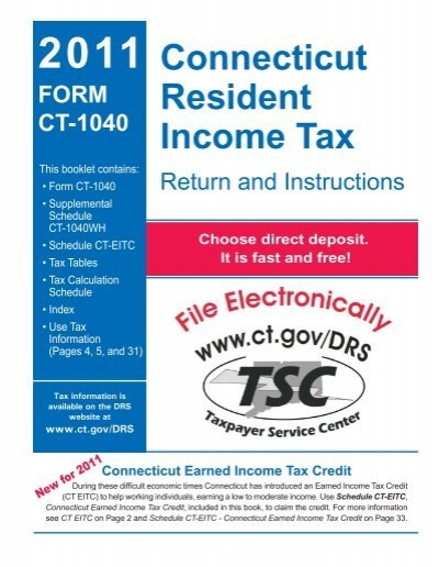 Ct 1040 Instructions 2011 Connecticut Resident Income Tax Ct