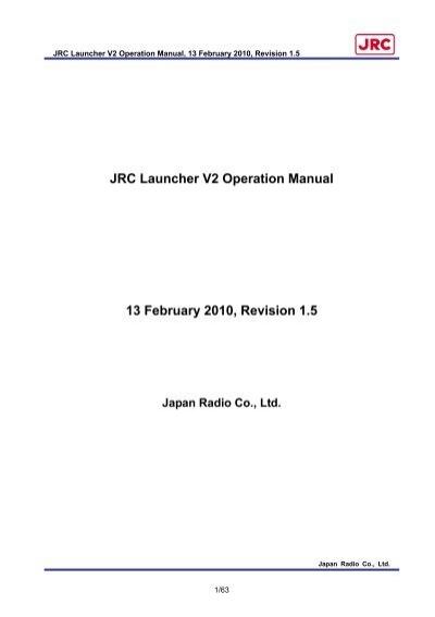 jrc launcher v2 operation manual jrc europe home rh yumpu com