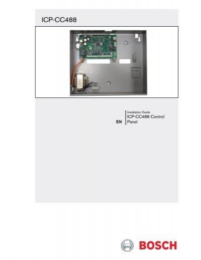 Bosch CC808 Cable link Intruder alarm system