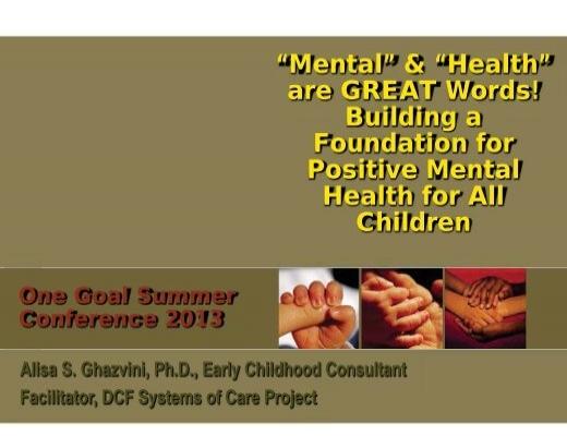 Building Foundation For Positive Mental Health